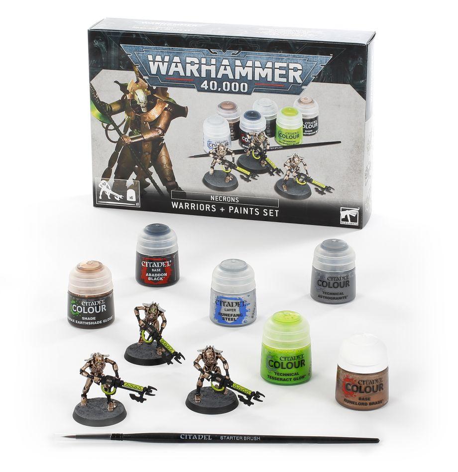 Necrons: Warriors + Paints Set
