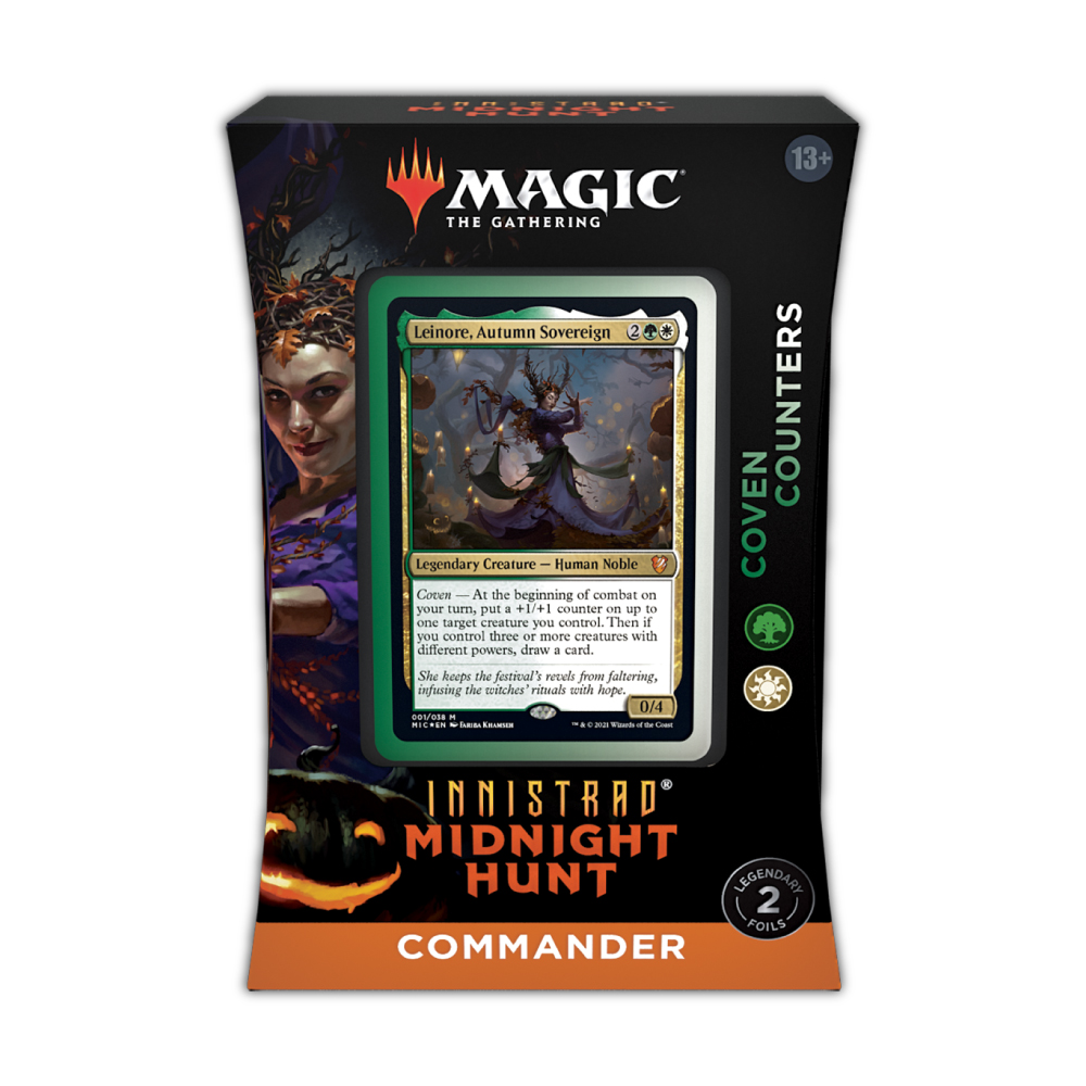 Innistrad: Midnight Hunt Commander Deck – Coven Counters (Green-White)