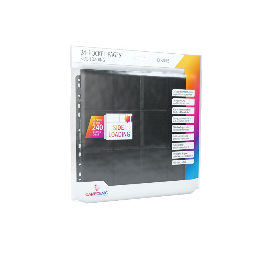24-Pocket Sideloading Pages (10 Pages Bag)